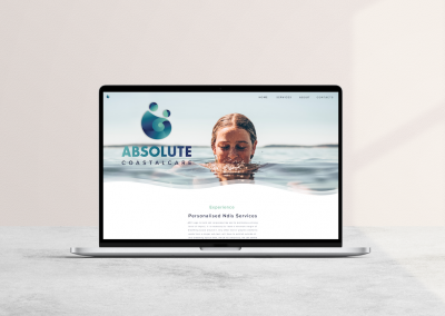 Company Branding and Web Design for Absolute Coastal Care