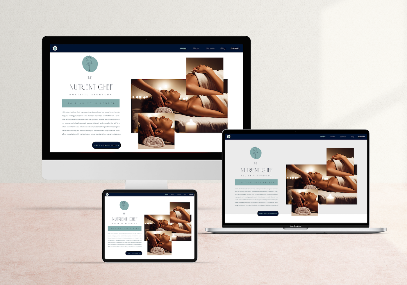 Branding and Web Design for Nutritionist and Holistic Ayurveda