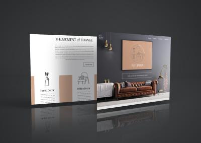 Logo Design and Website Design for Interior Designer