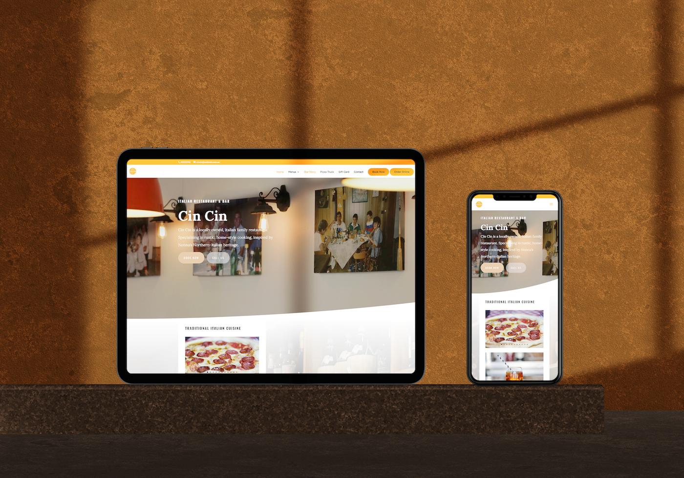 Web Design For Italian Restaurant