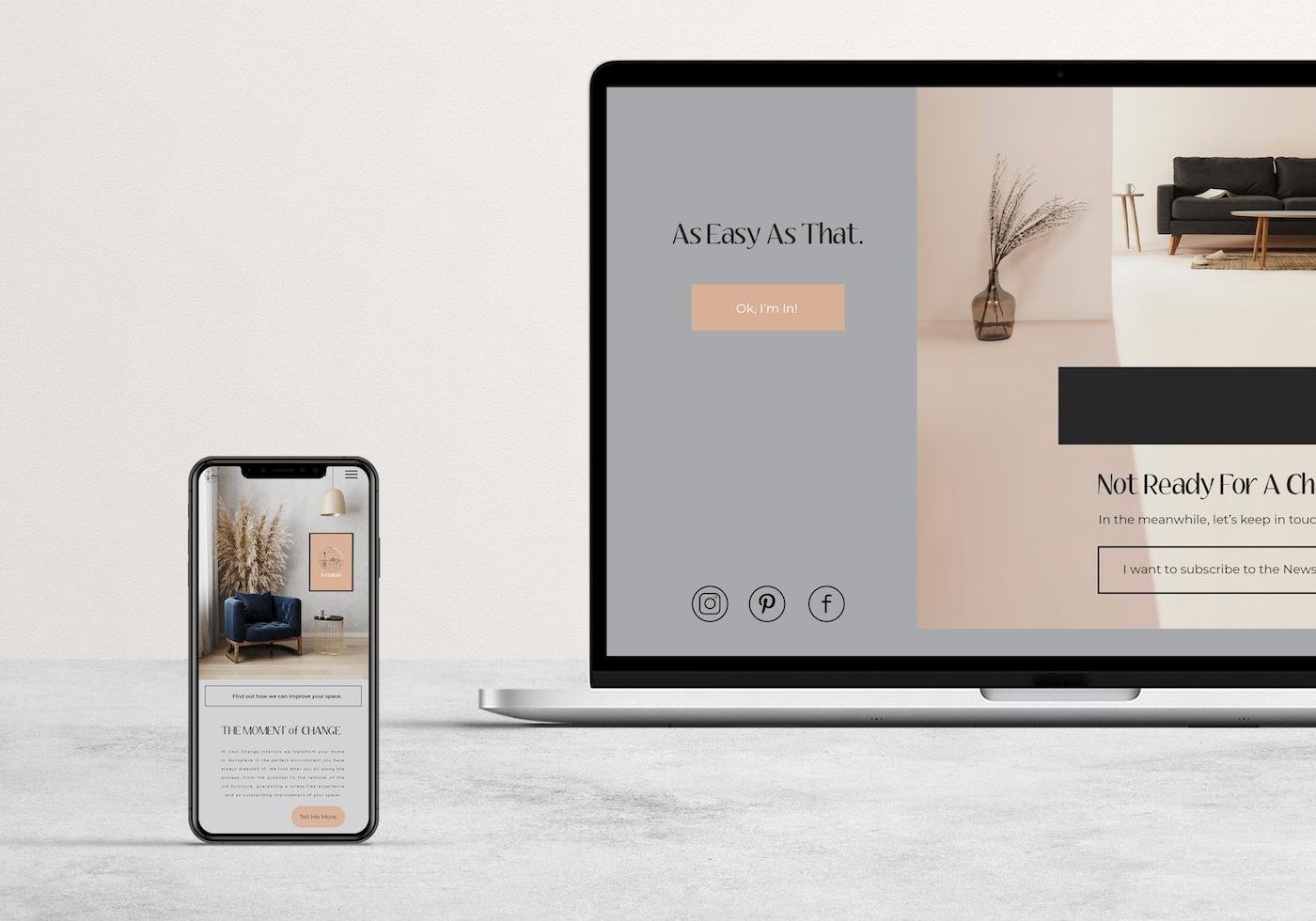 Web Design for Wollonong Interior Designer