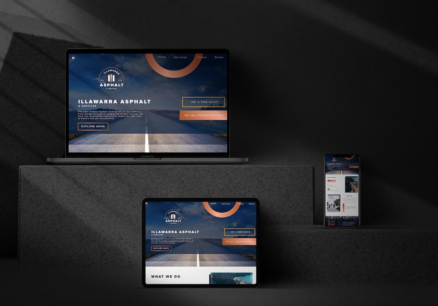 Website Design For Asphalt Company